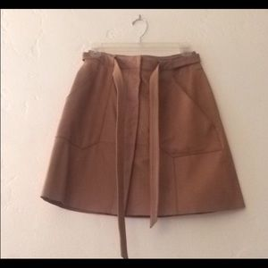 JOIE Leather Healy Skirt